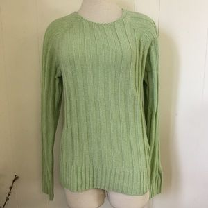 Vintage 90s Green Carolyn Taylor Acrylic Sweater
